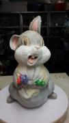sculpture animaux panpan pied de lampe chambre bebe : panpan