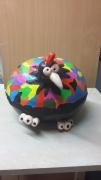 sculpture animaux poulet comique : poulet multicolor