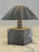 deco design architecture light ceramique emaillee craquele vise : lampe céramique