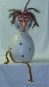 sculpture poulet deco : poulet dépressif