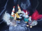 sculpture animaux decoration ceramique chicken : poulailler