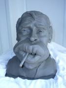 sculpture personnages jacques brel bust terre cuite josi rica : Jacques Brel