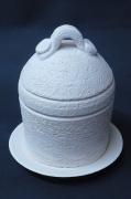 sculpture coquetier : coquetier et son chapeau