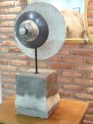 sculpture luminaire light lampe led ceramique : lampe ambiance raku