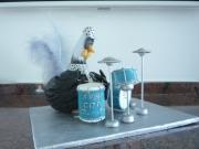 sculpture animaux poulet chicken sculpte terre : poulet batteur