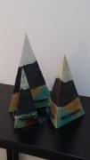 sculpture object deco ceramique josi rica : pyramides
