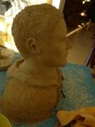 sculpture personnages buste terre cuite headandshoulders ,p vise : buste sur commande 2