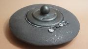 sculpture decoration interieur ceramique email noir paillette josi rica : déco de table