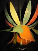 deco design fleurs ecodesign art deco recyclage luminaire : Luminaire, ecodesign à base de conserves