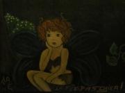 tableau personnages peinture tuile ardoise pense bete : Tableau mémo, sur ardoise