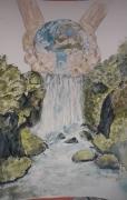 tableau autres terre cascade foret source : Terrasource