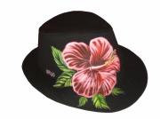 art textile mode fleurs chapeaux borsalino fleur rouge : Borsalino fleur