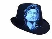 art textile mode personnages borsalino portrait alain bashung chapeaux : borsalino portrait