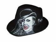 art textile mode personnages portrait chapeaux borsalino marylin manson : borsalino portrait