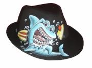 art textile mode animaux chapeaux borsalino animaux requin : Borsalino requin