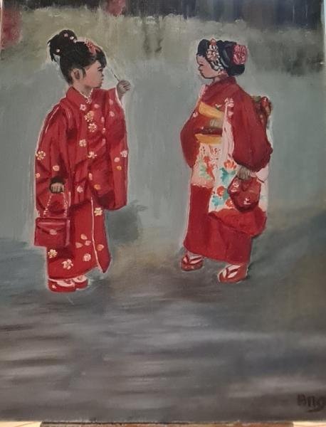 ARTISANAT D'ART Personnages  - Petites Chinoises