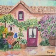 artisanat dart paysages : Petite Maison Fleurie