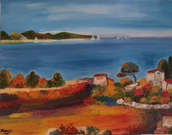ARTISANAT D'ART Paysages  - Vue Sur La Mer