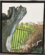 tableau paysages saule nature arbre barriere : Le saule mort