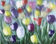 tableau fleurs fleurs multicolore peinture deco : florilège