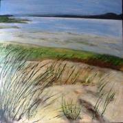 tableau marine ocre la mer les dunes cote d opale : les dunes