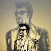 deco design personnages johnny hallyday luminaire metal l art du fer : lampe Johnny Hallyday