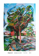 tableau paysages arbre mouvement voiture los angeles : Edgewood