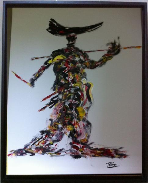 TABLEAU PEINTURE lancier Abstrait Peinture a l'huile  - composition 9