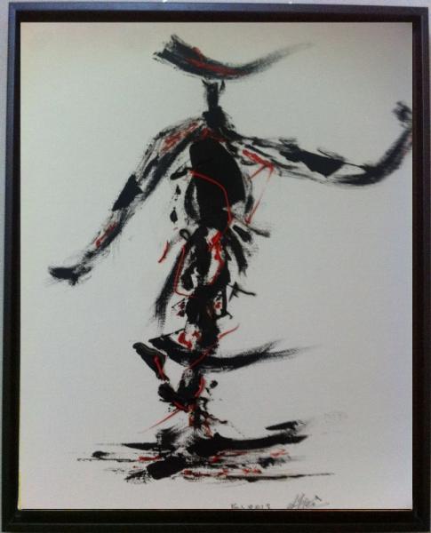 TABLEAU PEINTURE Personnages Peinture a l'huile  - femme chasseur