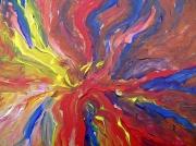 tableau abstrait fire feu abstract : FIRE