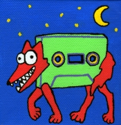 tableau personnages loup cassette nuit enfant : Loup/Cassette