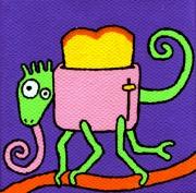 tableau personnages cameleon toaster mignon enfant : Caméléon/Toaster