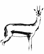 dessin animaux gazelle sauvage afrique savane : Gazelle I