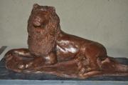 sculpture animaux lion sculpture en terre sculpture animaliere : Kratos