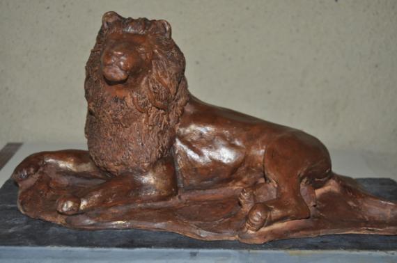 SCULPTURE lion sculpture en terre sculpture animalière Animaux Taille Terre cuite  - Kratos