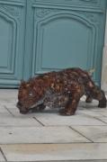 sculpture animaux panthere felin fil d acier sensualite : MYO