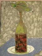tableau abstrait andre maillet johanes 0660585876 : la bouteille