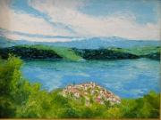 tableau paysages andre maillet johanes 0660585876 : St Croix du Verdon