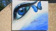 tableau personnages andre maillet johanes 0660585876 : Les yeux de venise