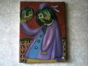 tableau personnages blouse simple foulard portrait : LA CHINOISE