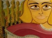 tableau personnages visage bouche cheveux : Sur la route