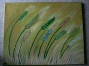 tableau autres bles couleurs nature jaune : Les blés
