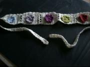 bijoux fleurs couleurs crochet bandeau : Bandeau à fleur, au crochet