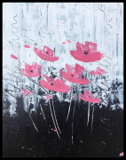 tableau flower abstract acrylic peinture : Flowers