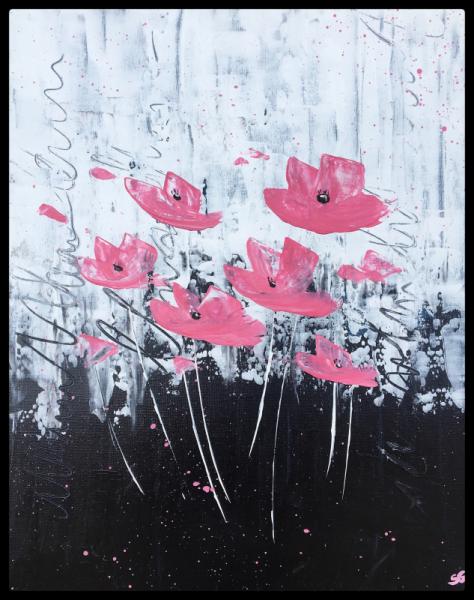 TABLEAU PEINTURE flower abstract acrylic peinture  - Flowers