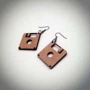 """bijoux autres boucles d oreil disquette bois artisanal : Boucles d'oreille """"Disquettes"""""""