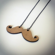 """bijoux autres collier bois moustache artisanal : Collier en bois """"Moustaches recourbées"""""""