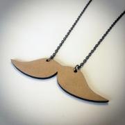 """bijoux autres collier moustache bois artisanal : Collier en bois """"Moustaches droites"""""""