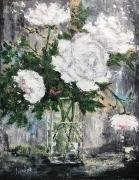 tableau fleurs fleurs : Bouquet de Roses blanches