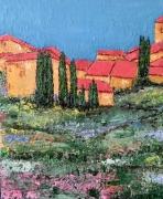 tableau paysages : tuiles rouges